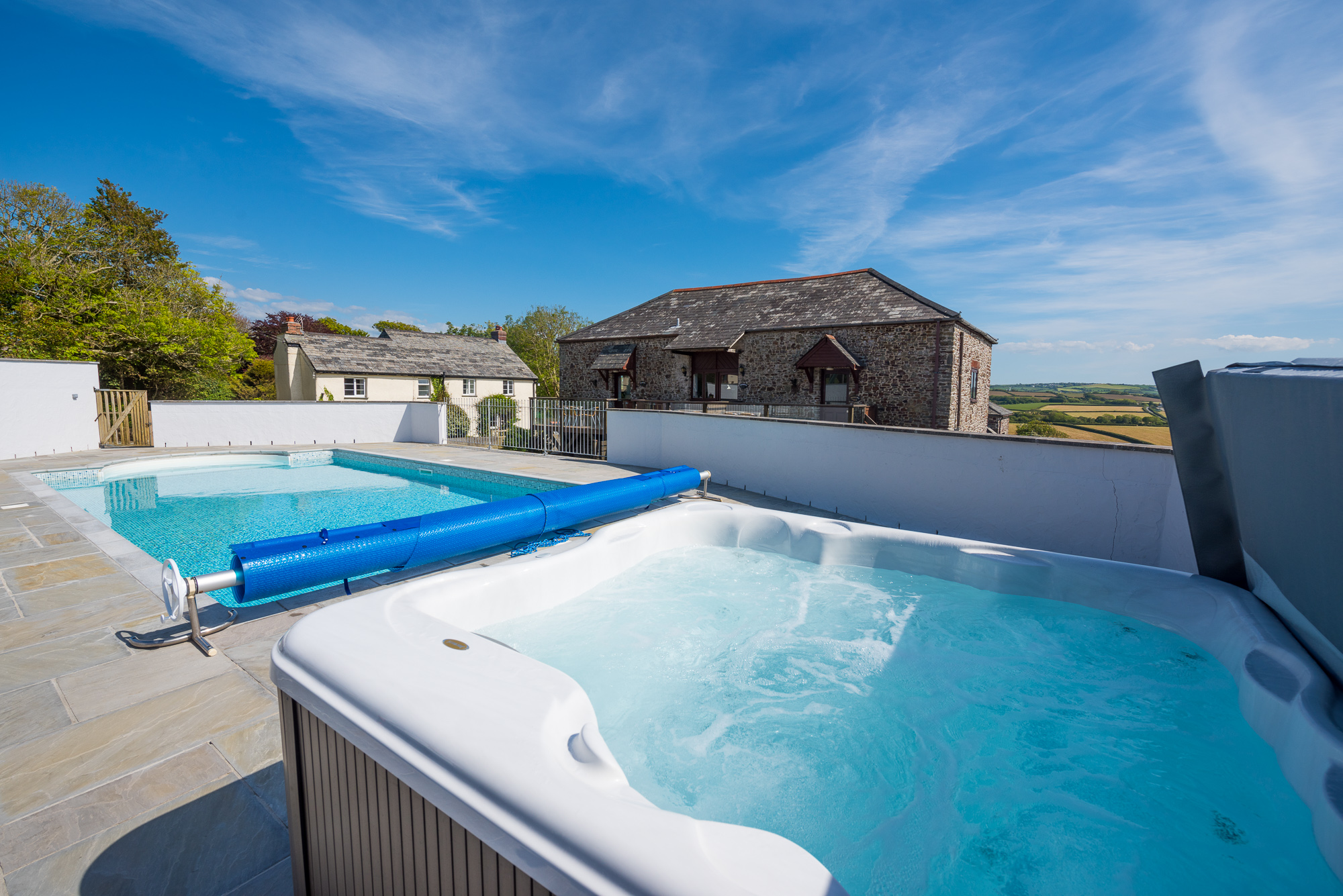 Our heated outdoor pool is open Easter-September. Our hot tub is open all year.